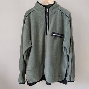 Vintage North Country Fleece Pullover Sweatshirt Swester Green Size Large